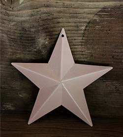 Pale Peach Blue Barn Star (Multiple Size Options)