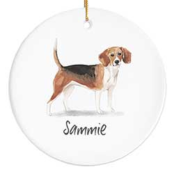 Beagle Personalized Ornament