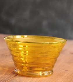Beehive Glass Prep Bowl - Yellow