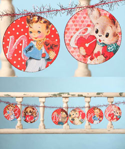 Retro Be Mine Garland