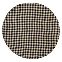 Burlap Black Check Round Tablecloth (70 inch)