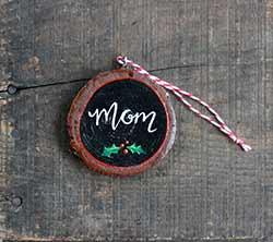 Mom Wood Slice Ornament (Personalized) (CLONE)