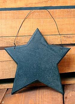 Wood Star Ornament - Black