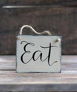 Eat Mini Wood Sign
