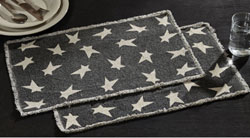 Black Primitive Star Placemats (Set of 2)