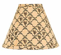 Chanticleer Black Lamp Shade - 12 inch