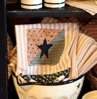 Black Star Decorative Dishtowel