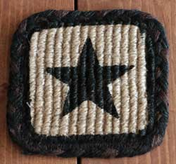 Black Star Wicker Weave Jute Coaster