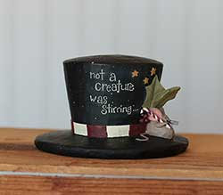 Not A Creature Was Stirring Christmas Top Hat