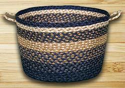 Light Blue, Dark Blue, & Mustard Utility Basket