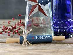 Blue Freedom Mini Rolling Pin