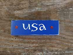 USA Mini Stick Shelf Sitter with Stars