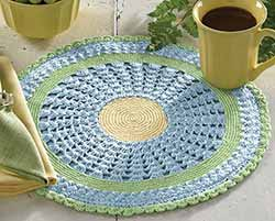 Emily Round Crochet Placemat
