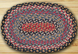 Burgundy, Blue, & Grey Jute Placemat