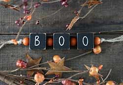 Boo Blocks Garland with Beads