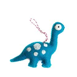 Brachiosaurus Wool Ornament