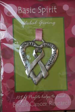 Heart Ribbon Global Giving Ornament