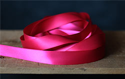 Shocking Pink Double Faced Poly Satin Ribbon, 3/4 inch
