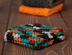 Harvest Medley Crochet Dish Cloth