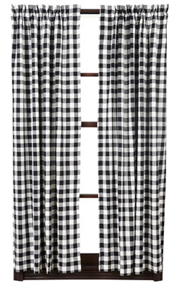 Buffalo Check Black Panels - 63 inch