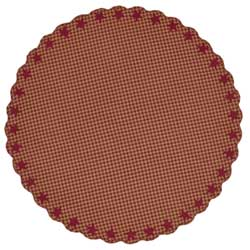 Burgundy Star Tablecloth - 70 inch (Round)