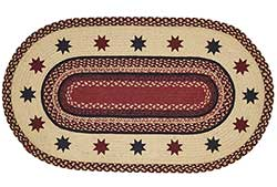Carson Star Braided Rug, Oval (27 x 48 inch)