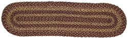 Burgundy and Tan Jute Table Runner - 48 inch