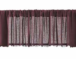 Tobacco Cloth Valance - Merlot (90 inch)