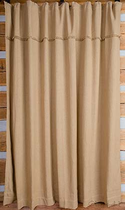 Deluxe Burlap Shower Curtain
