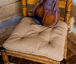 Deluxe Burlap Chair Pad