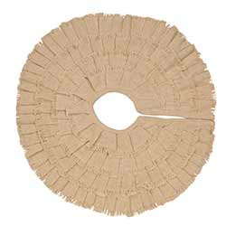 Deluxe Burlap Creme Christmas Tree Skirt - Mini