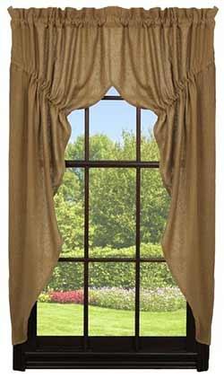Deluxe Burlap Prairie Curtain (63 inch)