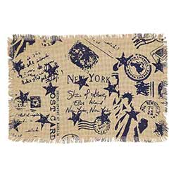 American Burlap Placemats (Set of 2)