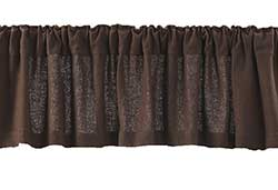 Burlap Brown Valance