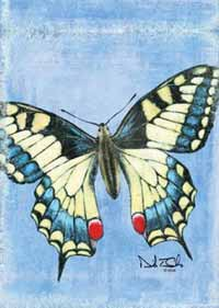 Butterfly Blue Garden Flag