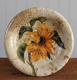 CR Gibson Sunflower Paper Plates - Dessert Size
