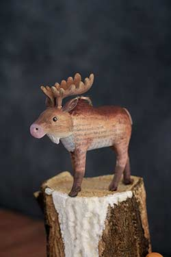 Recycled Paper Animal Ornament - Moose
