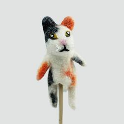 Calico Cat Finger Puppet