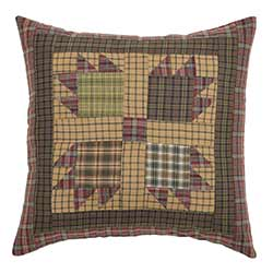 VHC Brands (Victorian Heart) Canavar Ridge Patchwork Pillow Cover - 16 inch