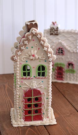 Candy Sprinkles Lighted Gingerbread House - 12 inch
