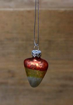 Candy Corn Mini Glass Ornament