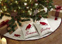 Season's Greetings Tree Skirt