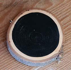 Our Backyard Studio Chalkboard Wood Slice Ornament