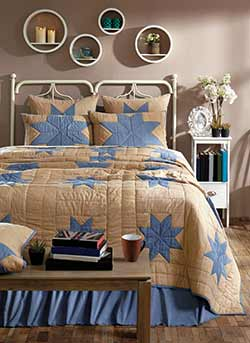 Chambray Star Quilt - Twin
