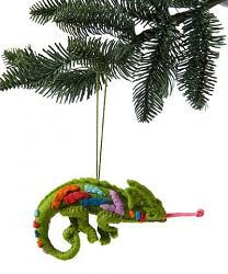Chameleon Felt Ornament