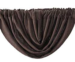 Burlap Brown Balloon Valance