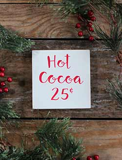 Hot Cocoa Shelf Sitter Sign