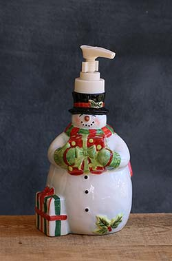 Vintage Snowman Dispenser