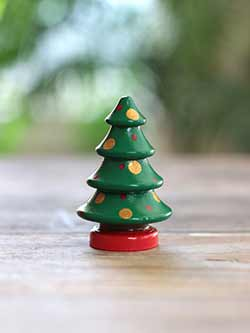 Christmas Tree Figurine - Dark Green