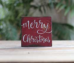 Merry Christmas Shelf Sitter Sign